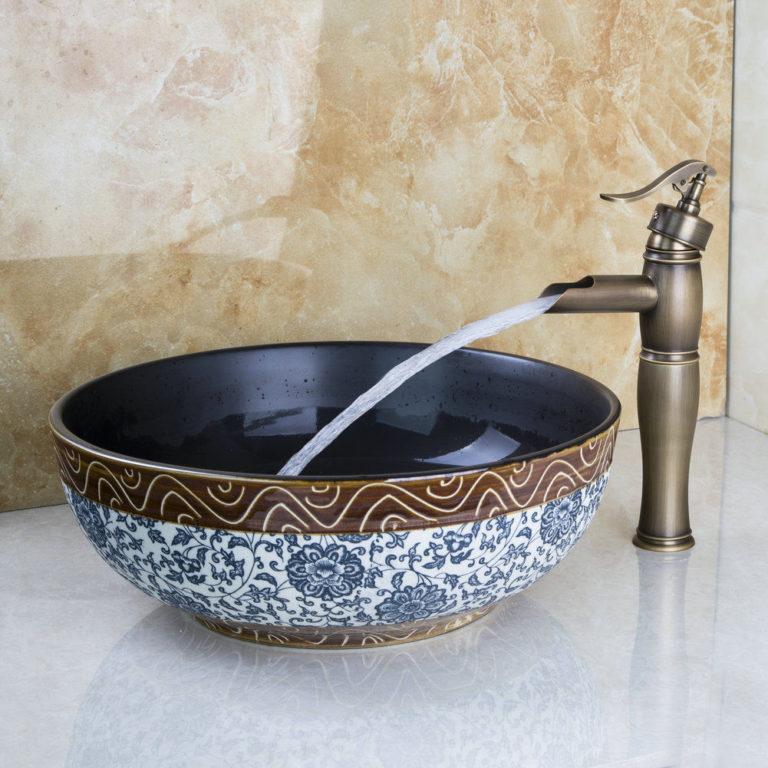Keramické umývadlo - ebay.com / Round Bathroom Vessel Ceramics Sink
